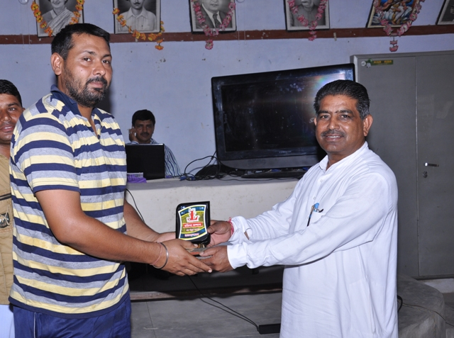 Jaswinder gogi ( President of District Handball ) Honoured by Sarpanch